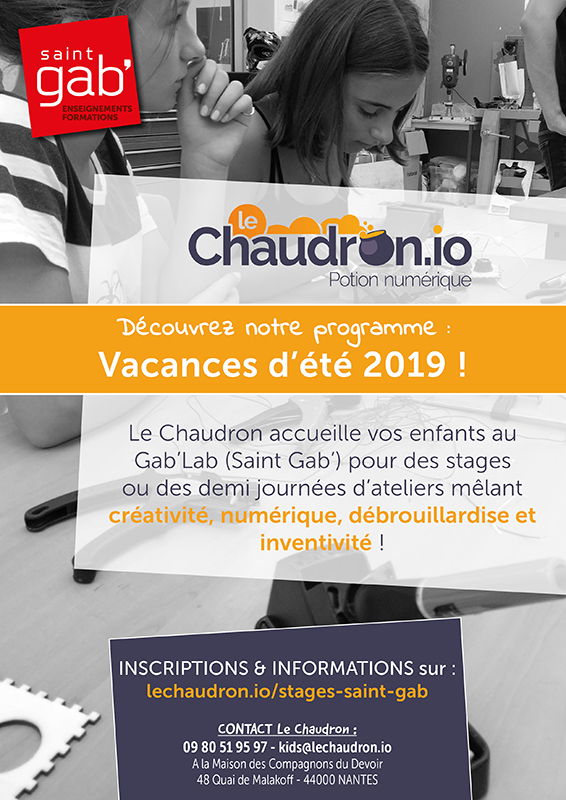 Flyer ateliers Chaudron_recto